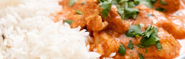 Makhani Masala with chicken and rice