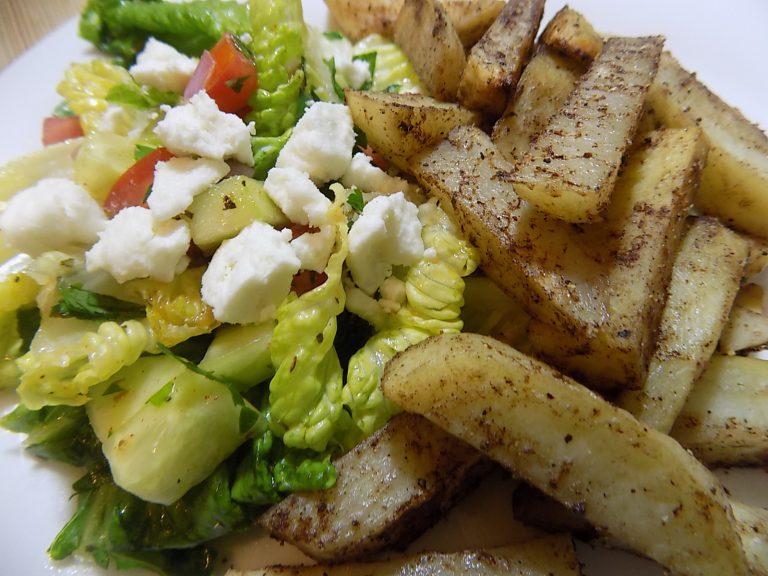Greek Salad with Lebanese Potatoes