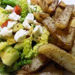 Greek Salad with Lebanese Potatoes
