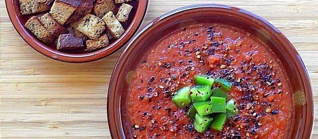 Cool Spanish Gazpacho Soup