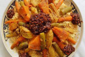 Moroccan Couscous aux Sept Légumes