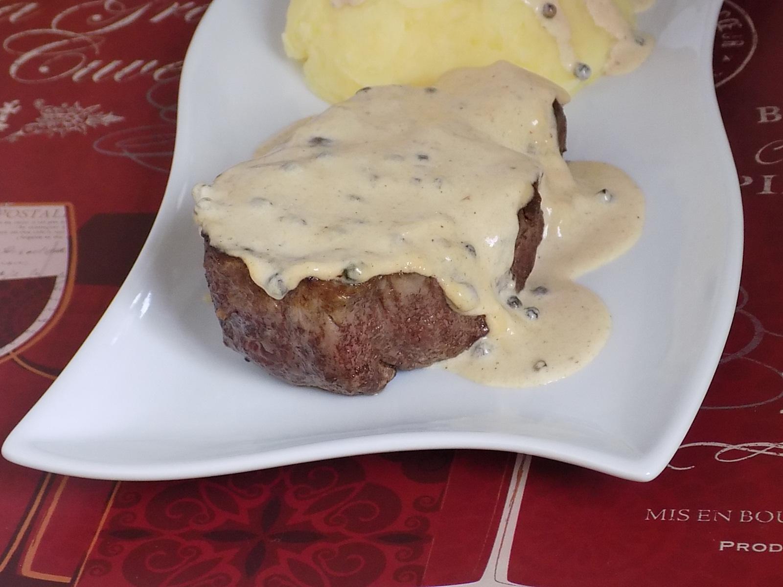 French Filet Mignon au Poivre