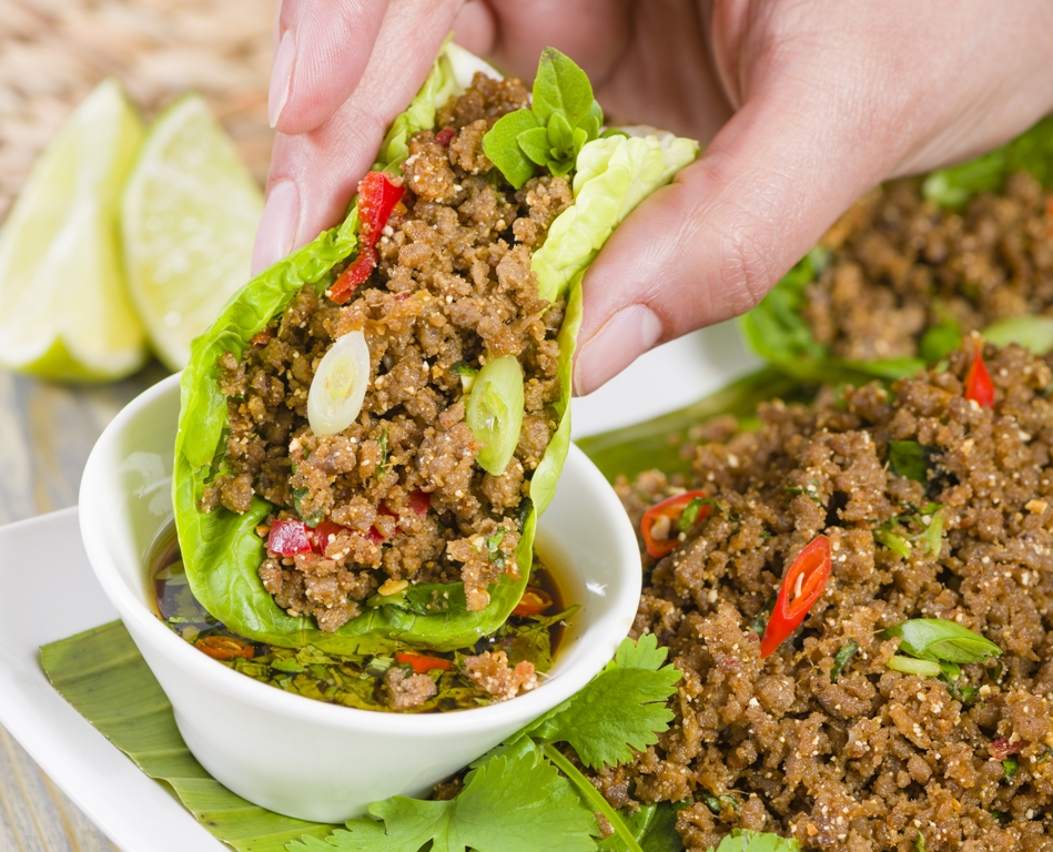 Larb dipping