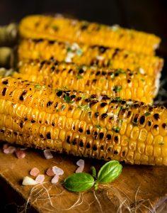 corn with basil