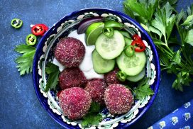 Falafel with Beetroots or Spinach