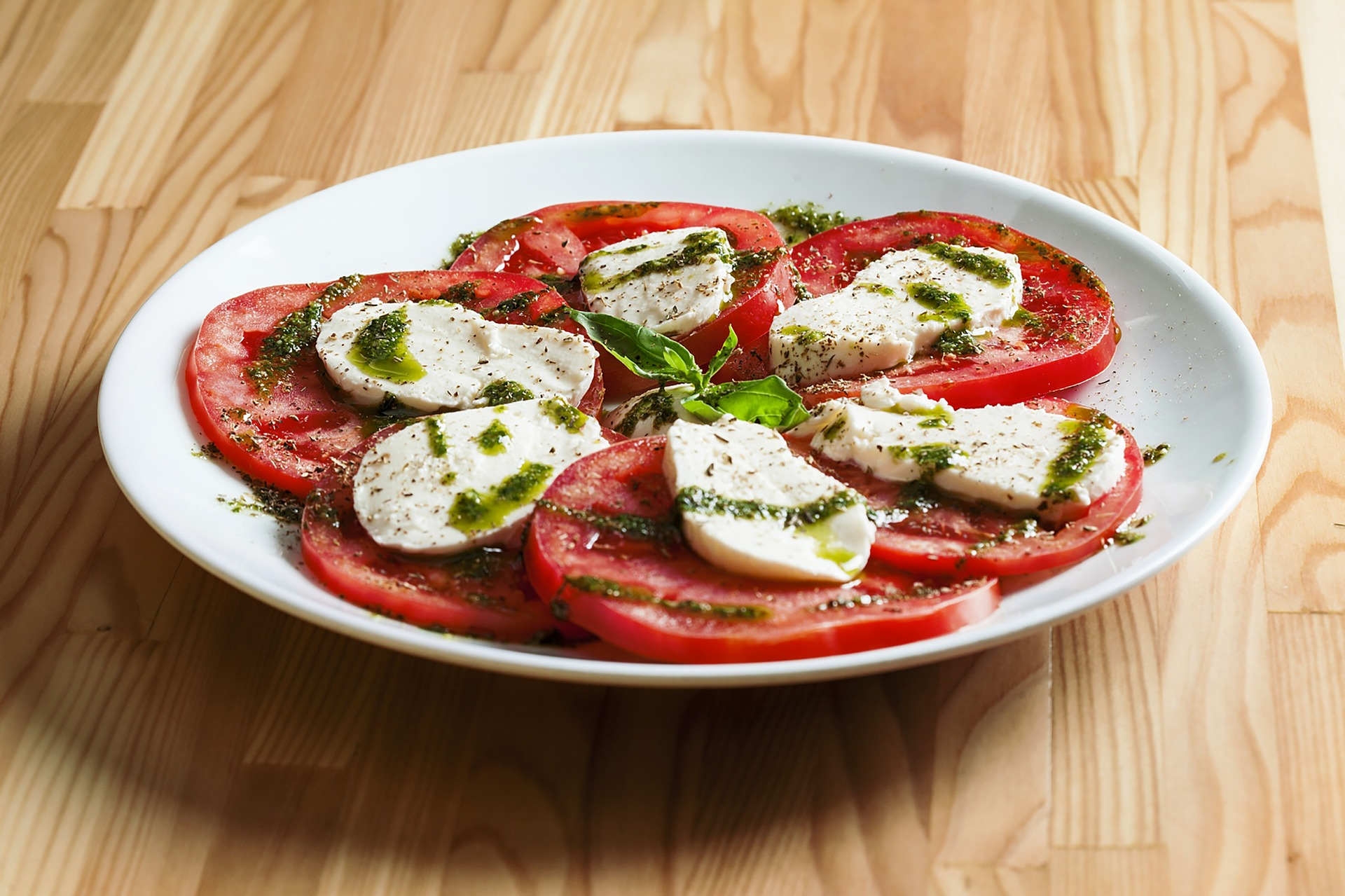 Tomato Mozzarella with Pesto